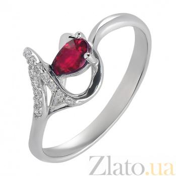 Серебряное кольцо с рубином Бесконечность 1841/9 рубин