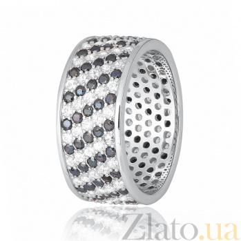 Серебряное кольцо с фианитами Ксена 000028345
