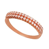 Золотое кольцо Вероника с цирконием
