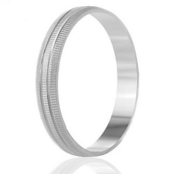 Кольцо из серебра Дианетта с насечкой и продольными желобками