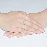 Кольцо из белого золота с бриллиантами Селена