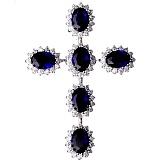 Серебряный крест Аквилон с фианитами