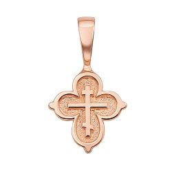Крестик в красном золоте Святой оберег