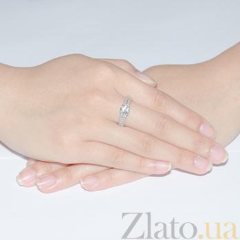 Кольцо из белого золота с бриллиантами Селена R0358