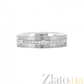 Золотое кольцо с бриллиантами Видит Бог 000029784