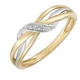 Кольцо Яна из комбинированного золота с бриллиантами