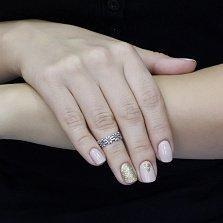 Серебряное кольцо на верхнюю фалангу Ромашковый веночек