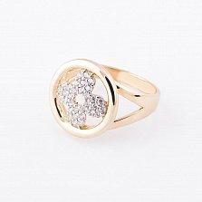 Кольцо из желтого золота Персея с фианитами