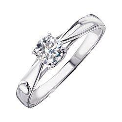 Серебряное кольцо с цирконием Swarovski 000103111