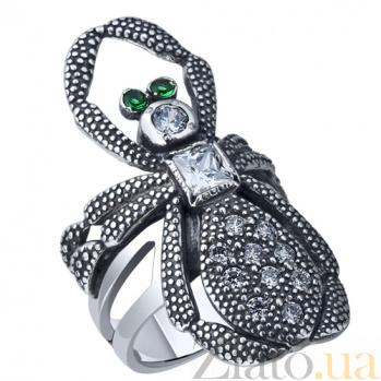 Серебряное кольцо Паук AUR--71364з