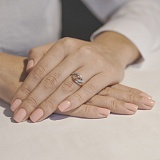 Золотое кольцо с цирконием Линии судьбы
