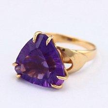 Золотое кольцо с аметистом Статус