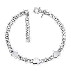 Браслет из серебра с сердечками 000146682