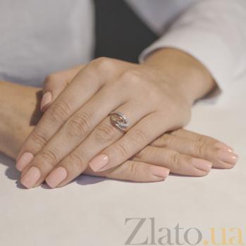 Золотое кольцо с цирконием Линии судьбы EDM--КД0392
