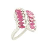 Серебряное кольцо с рубинами Урсула
