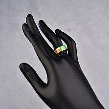 Серебряное кольцо Фантазия с цветной эмалью в стиле Фрайвилле
