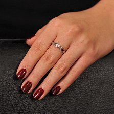 Кольцо Изабелла из белого золота с бриллиантами