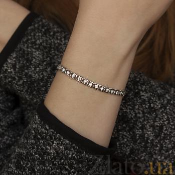 Серебряный браслет Мирена с цирконием 000044861
