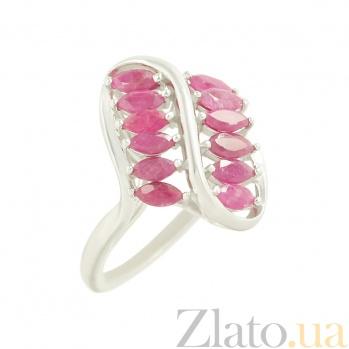 Серебряное кольцо с рубинами Урсула 3К079-0134