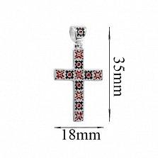 Серебряный крест с эмалью Богдана