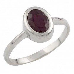 Серебряное кольцо Элиза с рубином