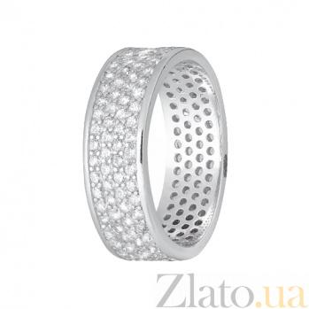Серебряное кольцо с фианитами Ослепительная красота 000028302