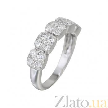 Кольцо из белого золота с бриллиантами Пушистый иней 000032314