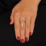 Золотое кольцо с цирконием Комета
