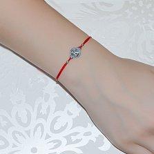 Шелковый браслет со вставкой Буква К
