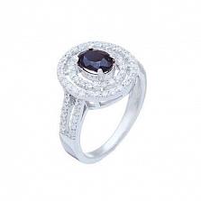 Серебряное кольцо с синим сапфиром Даниара
