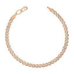 Золотой браслет Нонна с алмазной гранью и родированием, 4,5мм