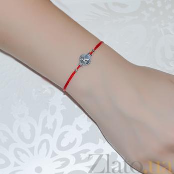 Шелковый браслет со вставкой Буква К Буква К
