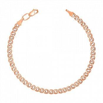 Золотий браслет з алмазною гранню і родіюванням, 4,5 мм 000095128