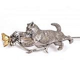 Серебряная закладка с позолотой Летняя забава
