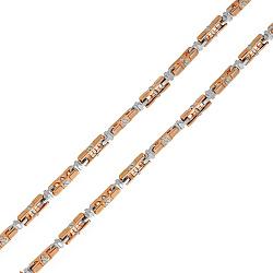 Золотая цепь Baraka Валенсия в комбинированном цвете с бриллиантом 000033380