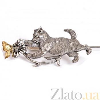 Серебряная закладка с позолотой Летняя забава 1558