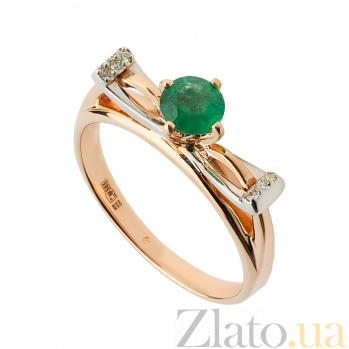 Золотое кольцо с изумрудом и бриллиантами Корнелия 000030351