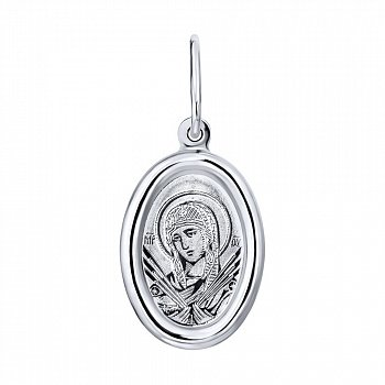 Серебряная ладанка икона Божией Матери Семистрельная 000122978