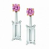 Серьги Argile с топазами и розовыми сапфирами