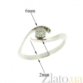 Кольцо из белого золота с бриллиантами Риана 000021457