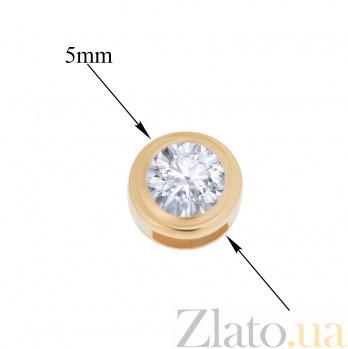 Золотой подвес Омали с фианитом 000096673