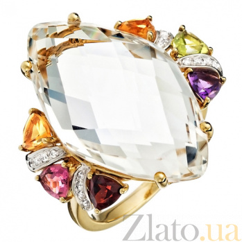 Золотое кольцо Multi Color 280912к