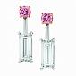 Серьги Argile с топазами и розовыми сапфирами E-cjAr-W-2s-2tp
