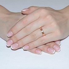 Золотое обручальное кольцо Яркая классика