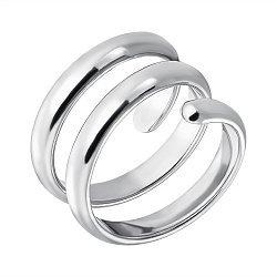 Серебряное кольцо с тремя завитками 000070942