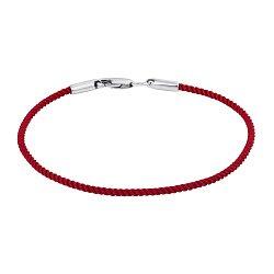 Шелковый крученый браслет Альенте с серебряной застежкой, 2мм