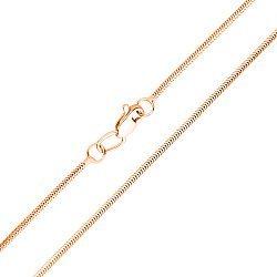 Золотая цепочка  в красном цвете плетения снейк, 1мм 000115609