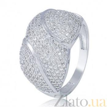 Кольцо из белого золота с бриллиантами Афина EDM--КД7524/1
