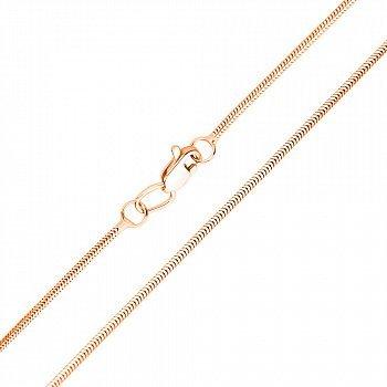 Золотий ланцюжок в червоному кольорі плетіння снейк, 1мм 000115609