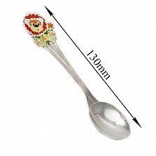 Серебряная ложка с эмалью Львёнок